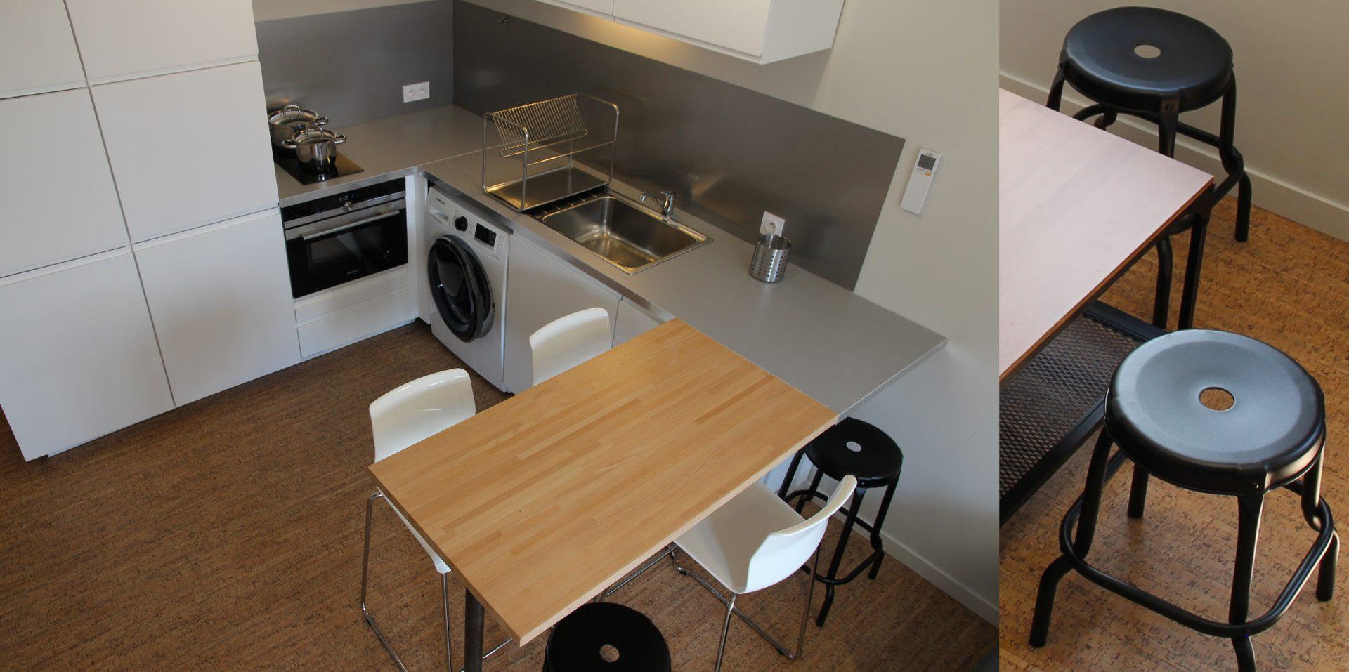Aménagement de duplex pour du locatif duplex 1 cuisine