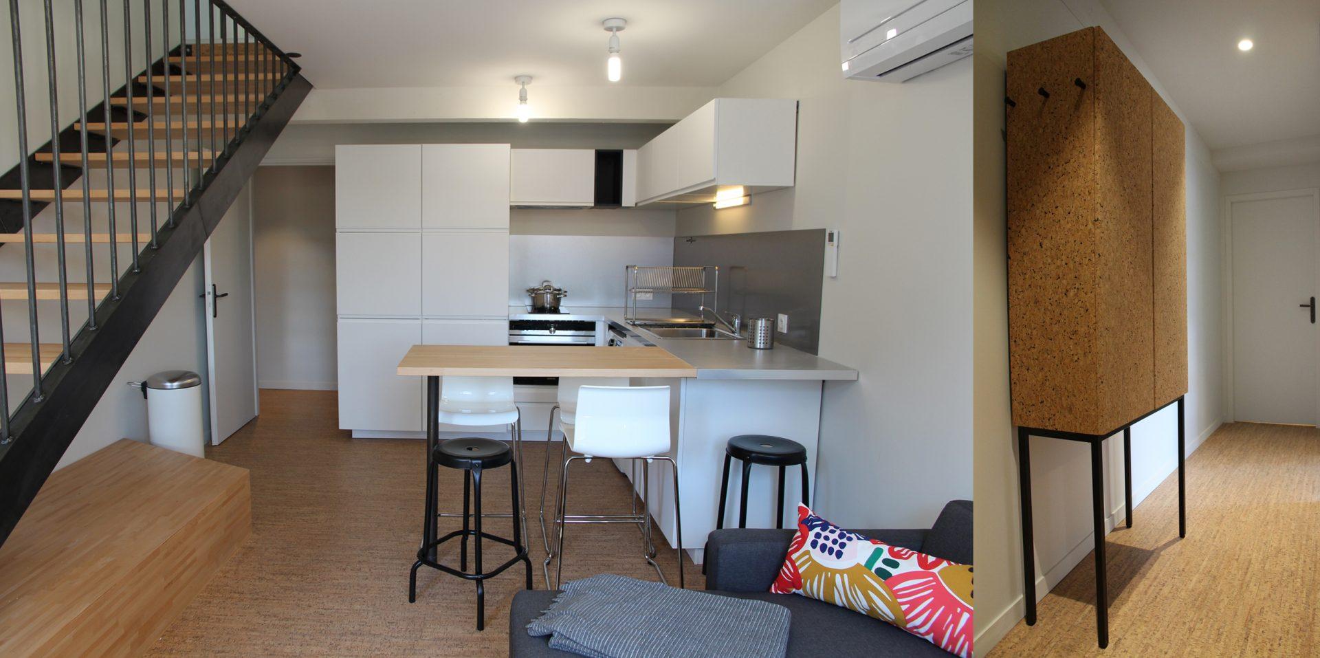 Aménagement de duplex pour du locatif duplex 1 salle a manger cuisine