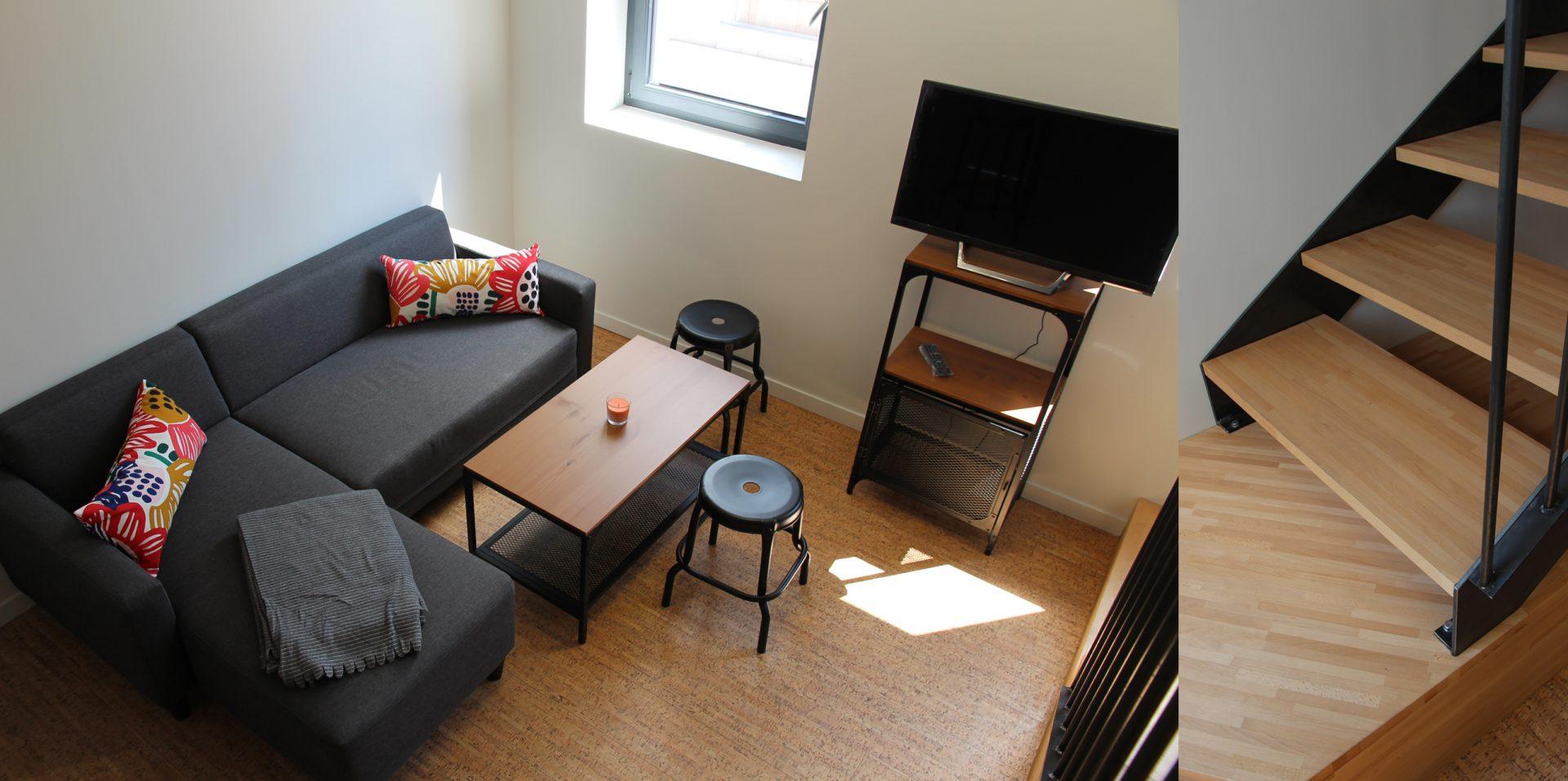 Aménagement de duplex pour du locatif duplex 1 salon