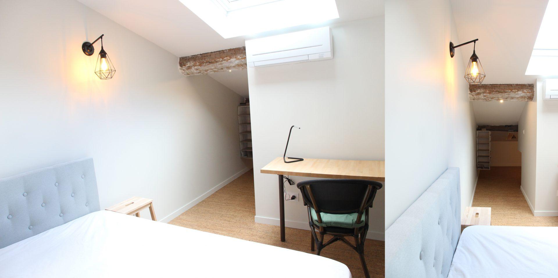 Aménagement de duplex pour du locatif duplex 2 chambre