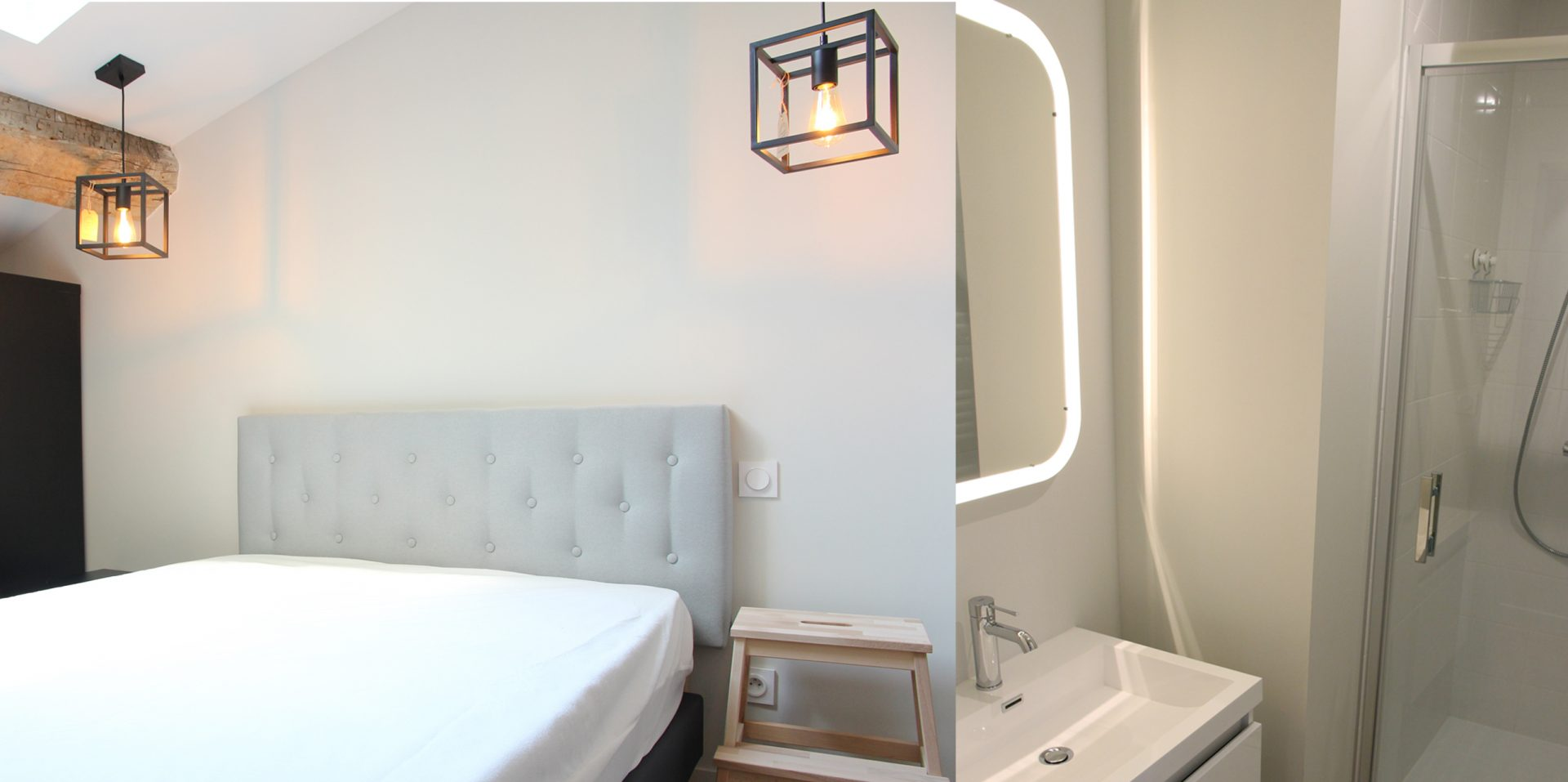Aménagement de duplex pour du locatif duplex 2 chambre salle de bain