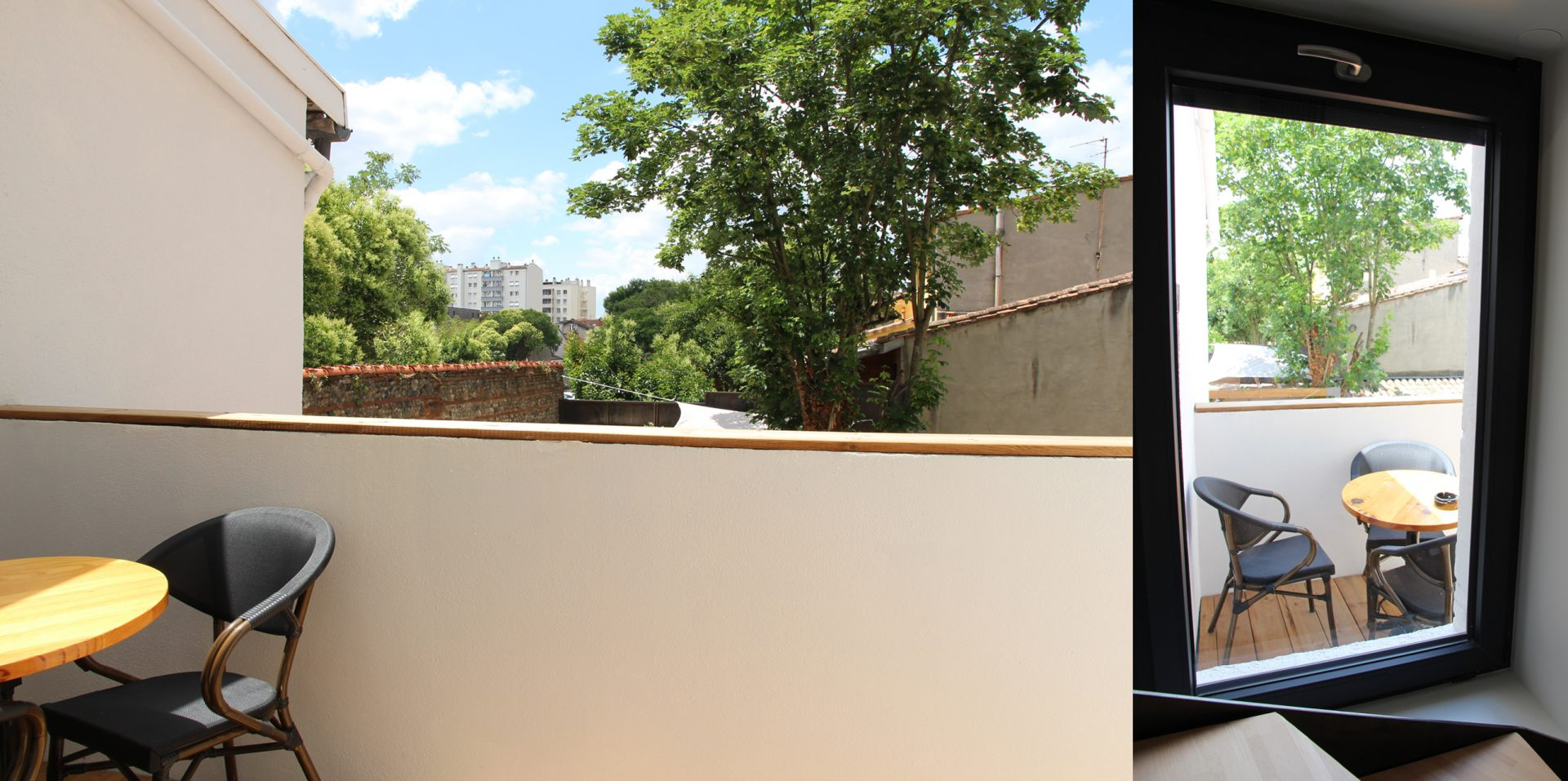 Aménagement de duplex pour du locatif duplex 2 terrasse
